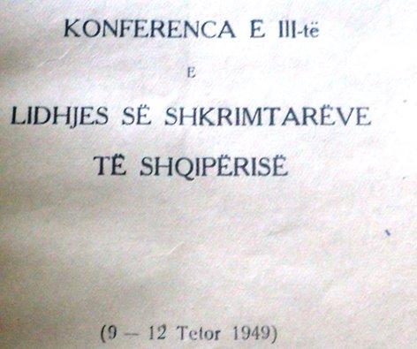 KONFERENCA E III-TË E LIDHJES SË SHKRIMTARËVE TË SHQIPËRISË