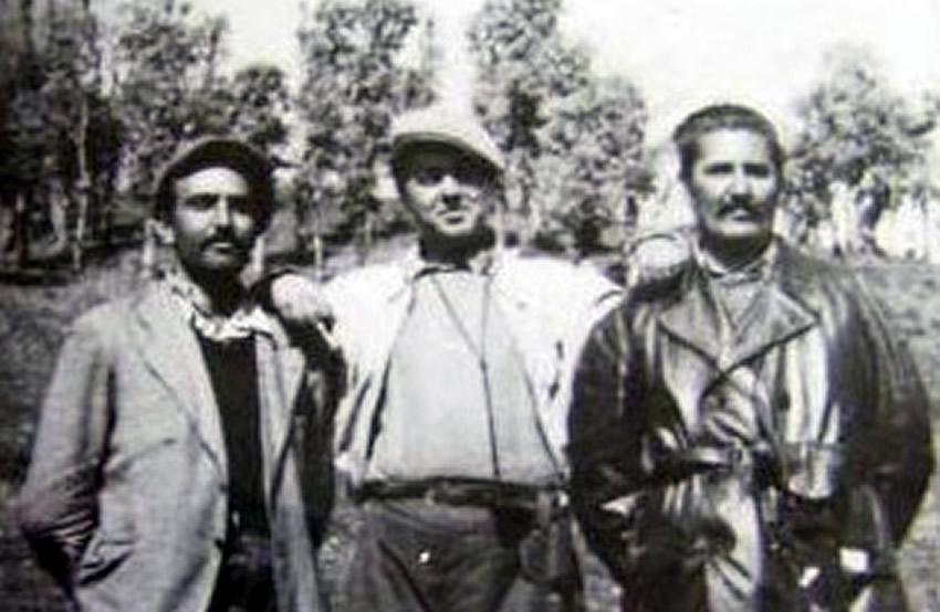 Terroristët Dushan Mugosha, Enver Hoxha dhe Milladin Popoviq
