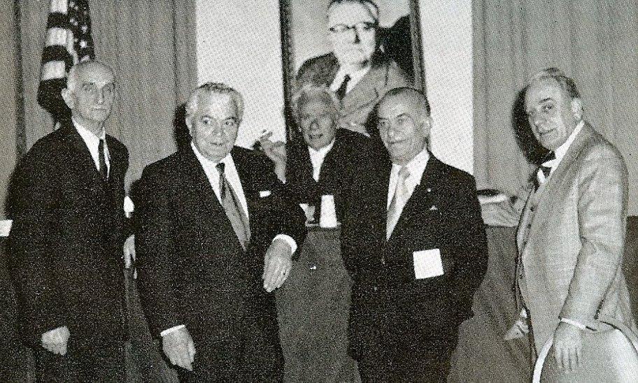 Dr. Rexhep Krasniqi, Prof. Vasil Allarupi, inxh. Ago Agaj, z. Adem Hodo, Dr. Hamdi Oruçi