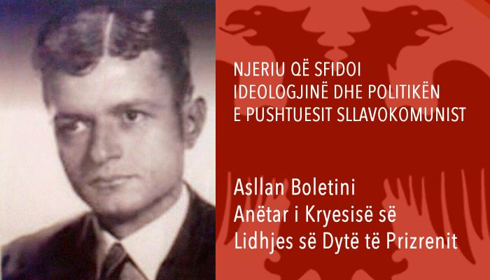 Asllan Boletini, djali i tetë i heroit kombëtar Isa Boletini