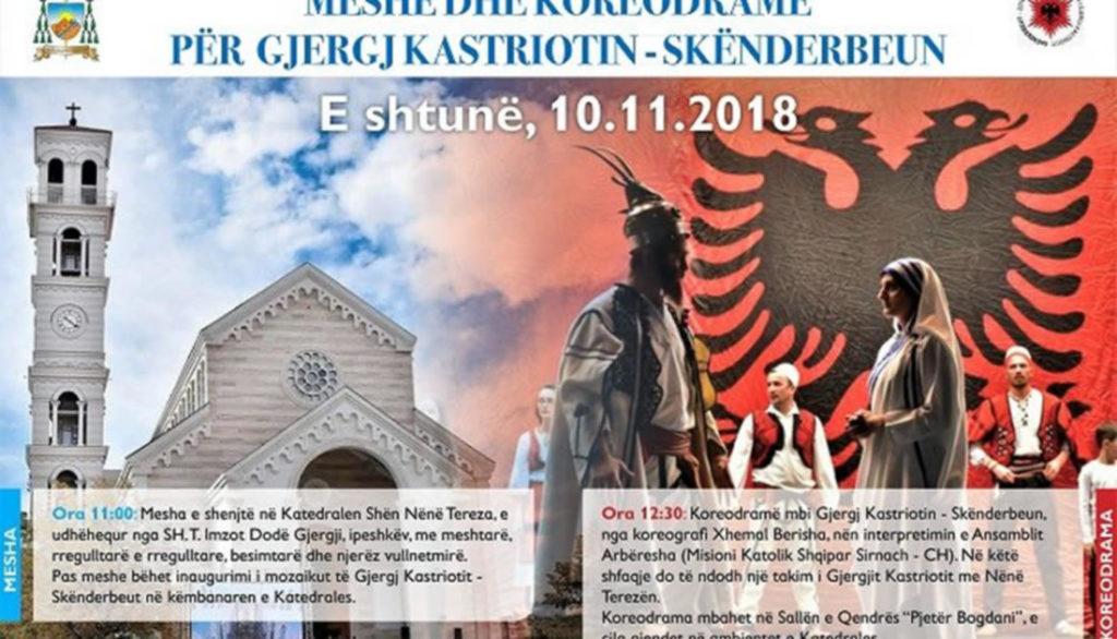 Meshë dhe koreodramë për Gjergj Kastriotin – Skënderbeun në Katedrale