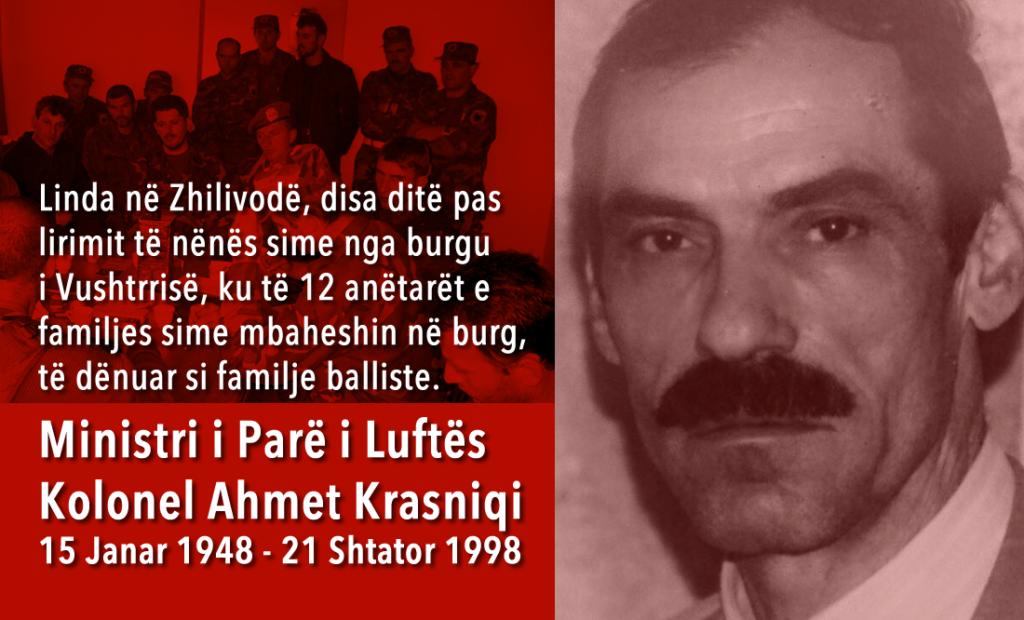 Ministri i Parë i Luftës - Kolonel Ahmet Krasniqi