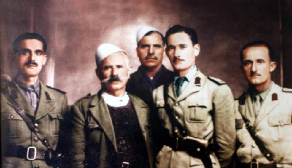 Nga e majta ne te djathte: Mark Tunxhi, Mark Sadiku, Dod Martini, Lek Vojvoda, Sadik Marku