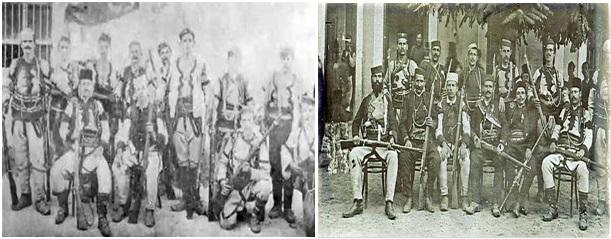 Foto 3. Banda e çetnikëve serbë e themeluar në Prilep, dhe Foto 4. Banda e çetnikëve serbë e themeluar  në Manastir