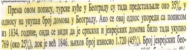 Fig. 2. Dëshmi nga literature serbe për regjistrimin e shtëpive në Beograd, gjatë vitit 1834 dhe 1846
