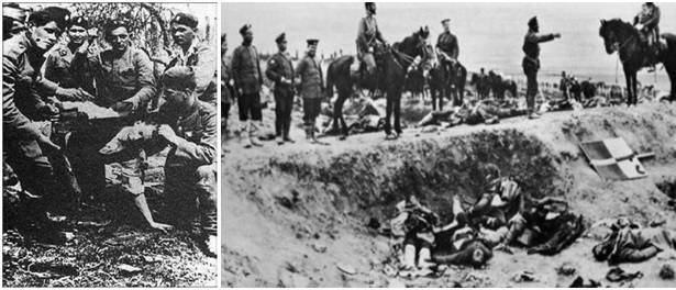 Foto 28 dhe 29. Masakrat e ushtrisë serbe ndaj shqiptarëve gjatë luftërave ballkanike në Lumë