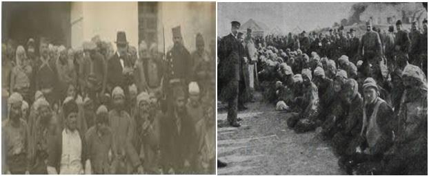 Foto 17 dhe 18. Shqiptarë të burgosur në Prishtinë, gjatë viteve 1912/13