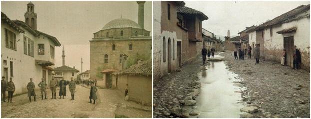Foto 26 dhe 27. Ushtarët serbë në Prishtinë në vitin 1913