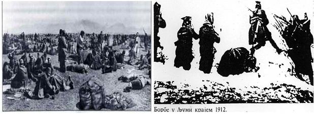 Foto 30 e 31. Ushtarët serbë në Lumë